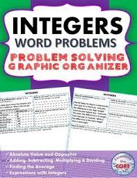 91 best integers images on pinterest math activities math