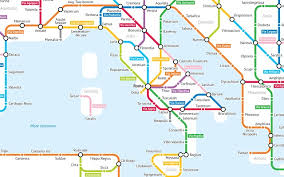 rome on a map this map shows ancient roads as a subway the local