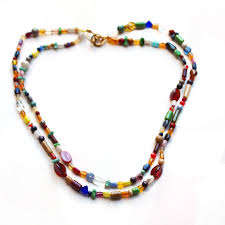 color bead necklace images Two strand beaded necklace by beadednecklaceshoppe123 on zibbet jpg