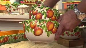 Fruit Bowls by Temp Tations Set Of 2 Figural Fruit Bowls With David Venable Youtube