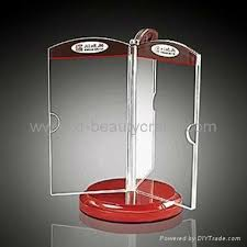 Table Tent Holders by Plastic Rotating Three Sides Acrylic Menu Stand Table Tent Holders