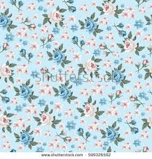 vintage floral wrapping paper seamless vintage flower pattern gift wrap stock vector 569455261