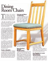 Chair Frames For Upholstery Dining Room Chair Plans U2022 Woodarchivist