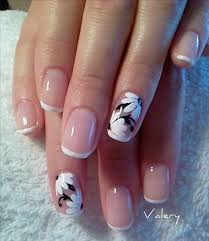 70 ideas of french manicure floral designs floral and eye