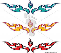 vector flame fire tattoo design stompstock royalty free stock