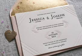 wedding invitations chicago modern linear blush and gold wedding invitation