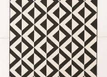Black And White Outdoor Rug Patio Furniture And Decor Trend Bold Black And White