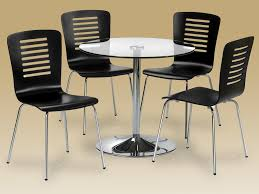 round dining table 4 chairs bowen kudos 80cm glass round dining table and 4 chairs set