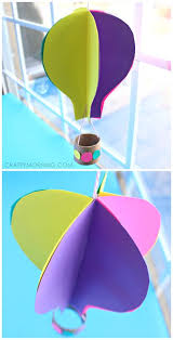 Making Flowers Out Of Tissue Paper For Kids - spinning 3d air balloon craft for kids to make balloon