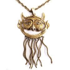 pauline rader necklace vintage signed pauline rader figural pendant