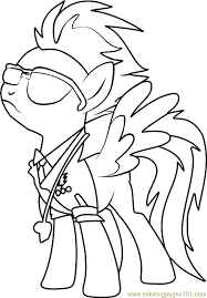 spitfire coloring page free my little pony friendship is magic