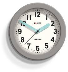 jones fab contemporary grey wall clock departments diy at b u0026q