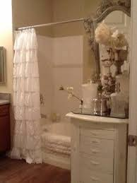 Burlap Ruffle Curtains Shabby Chic Shower Curtains Foter