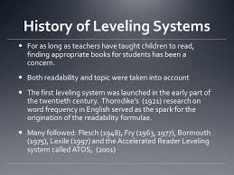 history of leveling systems for as as teachers taught