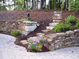 landscaping ideas with retaining walls