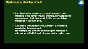 significance of chemical formula