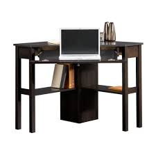Wooden Corner Computer Desks For Home Furniture Appealing Tall Narrow Corner Computer Desk With Black