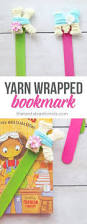 yarn wrapped letter bookmarks yarn wrapped letters craft