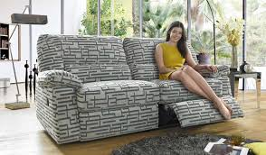 Sofa Recliner Mechanism by A Fabric Sofa That Cuts A Dashing Look Its Unique Designer Fabric