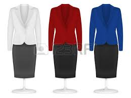 women u0027s plain suit and skirt template set royalty free cliparts