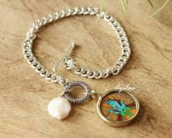 handmade charm bracelet images Krishna charm chain gemstone pearl handmade bracelet at 950 azilaa jpg