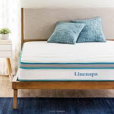 Twin Xl Bed Size Linenspa 8 In Twin Xl Memory Foam And Innerspring Hybrid Mattress