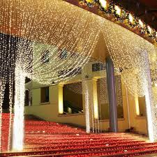 6 3m 300led led curtain icicle lights string fairy light for