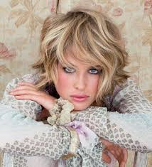 short shag haircuts for oblong face short shaggy hairstyle with 2017 wavy styles ideas and blue eyes