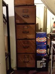 Wooden 2 Drawer Vertical File Cabinet by Large Old And Vintage Solid Oak File Cabinet With 4 Drawer In The
