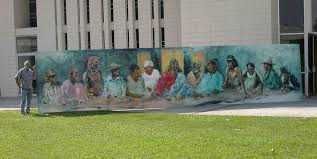 the last supper at 30 ft by hyatt moore painter the last supper at 30 ft