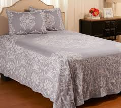 medallion jacquard 100 cotton kg bedspread with shams page 1