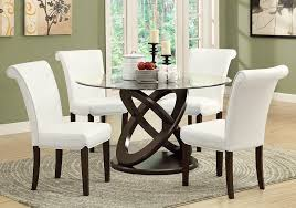 amazon com monarch tempered glass dining table 48 inch diameter