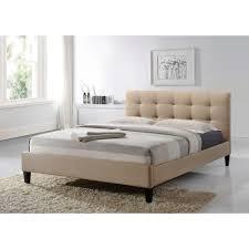 King Upholstered Platform Bed Altos Home Hermosa Beige King Upholstered Bed Alt K6502 Bge The