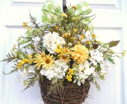 flower baskets using flower baskets for a front door wreath
