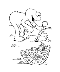 elmo harvest vegetables coloring pages coloring pages for later