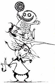 the nightmare before christmas coloring page the nightmare