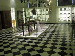 black and white marble floor tiles
