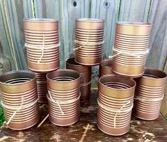 country wedding centerpieces copper wedding centerpieces painted cans copper vintage flower