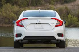 honda civic rear 2016 honda civic touring white exterior rear 7413 cars