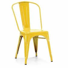 Yellow Bistro Chairs Xavier Pauchard Industrial Dining Room Furniture T