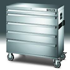 rolling tool storage cabinets fortress 105346 36 in wide 5 drawer stainless steel rolling tool
