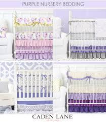 Bedding For A Crib Purple Crib Bedding Is Trending For Nursery Design