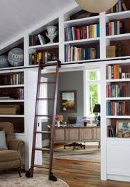Rolling Ladder Bookcase Creating A Home Library That U0027s Smart And Pretty House Book