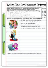 14 free esl compound sentences worksheets