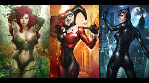 city of heroes halloween sirens poison ivy catwoman and harley quinn