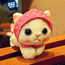 9 u0027 u0027 ty beanie boos plush cat scarf cat plush toys doll plush
