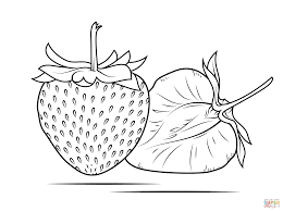 strawberry coloring page free printable coloring pages