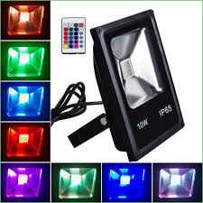 Colored Outdoor Light Bulbs Lighting 10w Rgb Led Flood Light Outdoor Ip65 Colored Outdoor