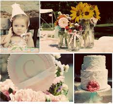vintage shabby chic 1st birthday party pizzazzerie