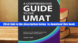 read online a comprehensive guide to the umat including over 50